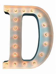 24quot lighted letter d from spell it out letters With lighted monogram letters