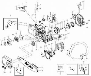 Poulan P3416 Parts List And Diagram