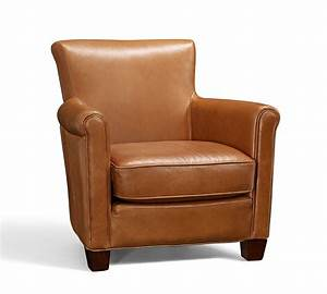 Irving Leather Armchair - Chestnut Pottery Barn AU