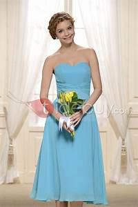 Robe Bleu Demoiselle D Honneur : robe demoiselle d 39 honneur bleu clair mi longue pas cher ~ Dallasstarsshop.com Idées de Décoration