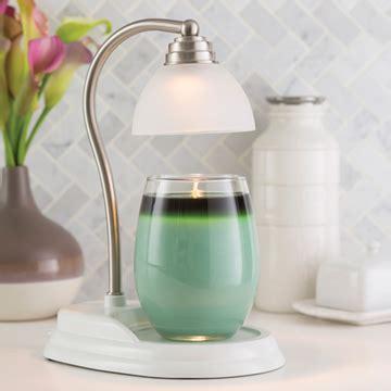 white nickel aurora candle warmer l