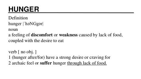 the meaning of the hunger social action fight hunger and food insecurity