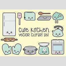 Premium Vector Clipart Kawaii Kitchen Clipart Kawaii