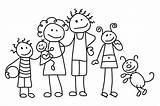 Coloring Pages Stick Clip Figure Printable Families Getcoloringpages Colorear Dibujos Para sketch template