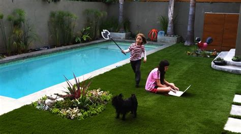 photos of small backyard ideas using pool landscaping