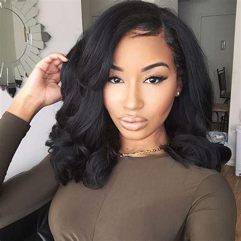 black hair weave styles sew in weave hairstyles for black 4234