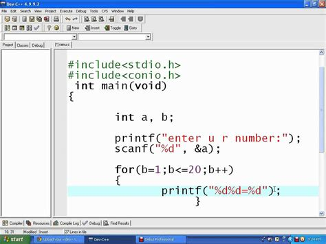Multiplication Table Program In C Write A C Program To Print