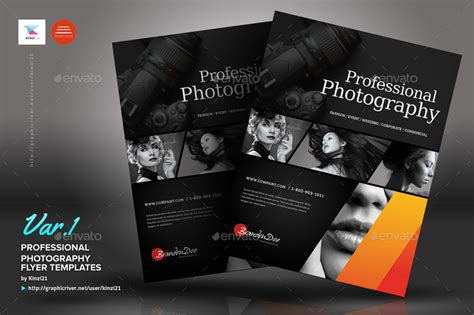 professional photography flyers  kinzi graphicriver