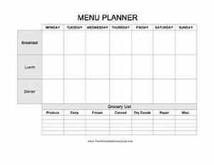 plan an entire week of meals breakfast lunch and dinner With breakfast lunch and dinner menu template