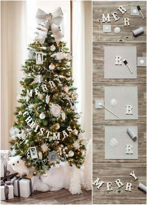 diy merry christmas banner for a christmas tree decoist