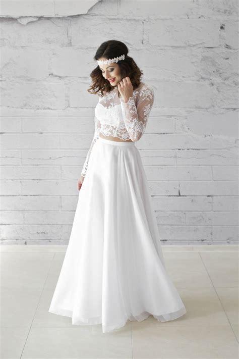 braut rock und top zweiteiliges brautkleid bauchfrei tolle kreation im boho vintage stil kleiderfreuden