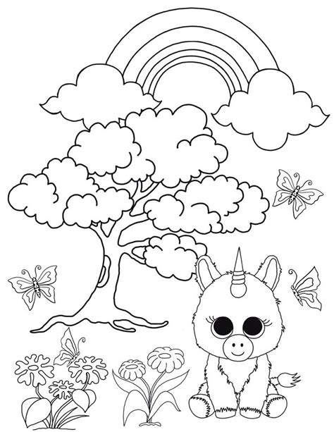 coloring boo beanie boo coloring pages unicorn in the enchanted forest