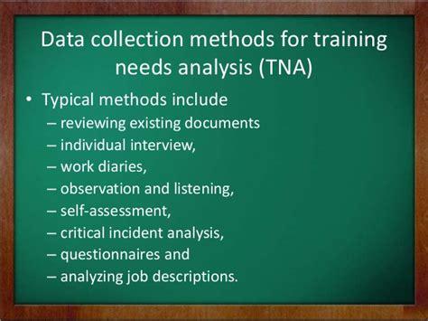 needs assessment analysis