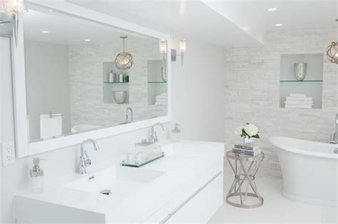 framing bathroom mirror ideas white lacquered bathroom vanity contemporary bathroom