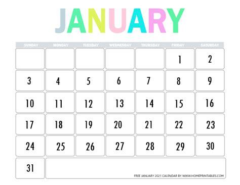 Get Calendar January 2021  PNG