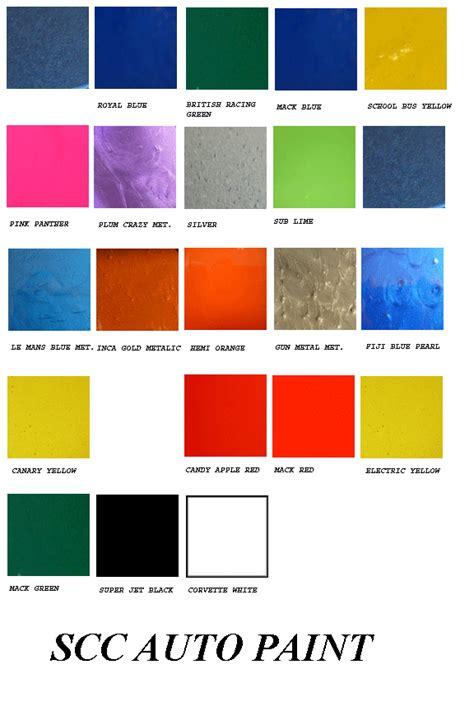 green automotive paint color chart images