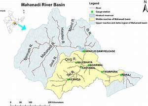 Index map of the middle reaches of the Mahanadi River ...