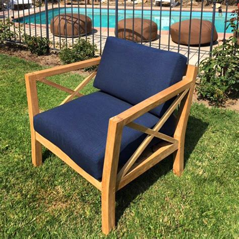 la teak club chair  sunbrella cushions iksun teak