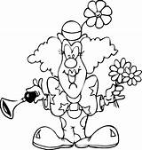 Coloring Clown Clowns Gangster Template Funny Via sketch template