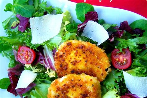 recette de salade melee tomates parmesan mozzarella panee