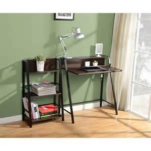 mainstays 2 tier writing desk mocha furniture walmart com