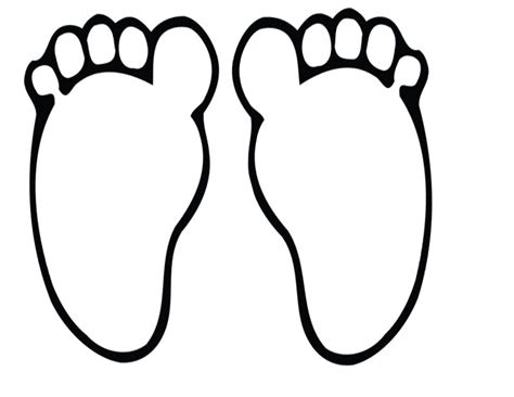 Footprints Template by Foot Clipart 6526 Free Clipart Images Clipartwork