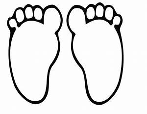 Big Foot clipart footprint outline - Pencil and in color ...
