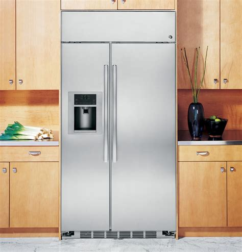 ge profile psbyshss   stainless steel side  side refrigerator   cu ft