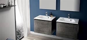 meuble de salle de bain mineral aquarine With salle de bain minerale