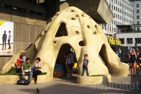 Small Earth's Super Adobe Shelter At London's South Bank