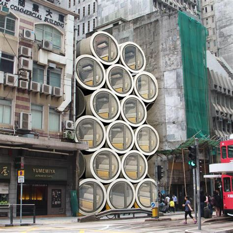 concrete water pipe converted   innovative tiny hong kong apartment idesignarch