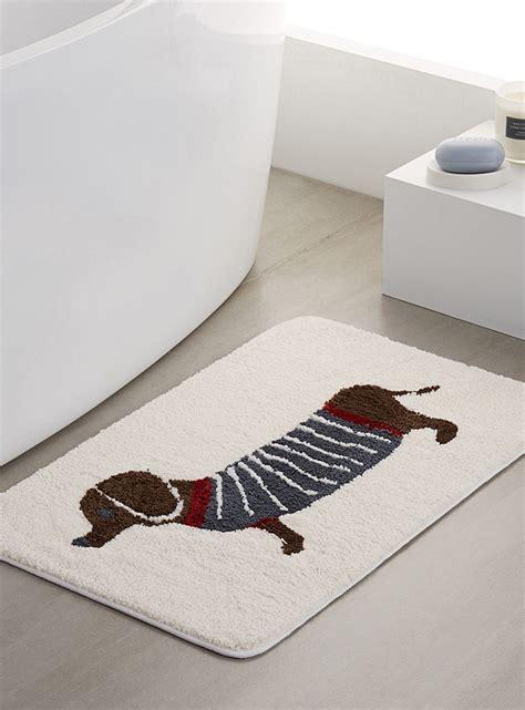 dachshund bath mat simons maison shop printed pattern