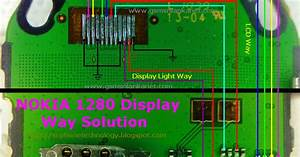 Repairing Nokia 1280 Lcd Display Light Problem With