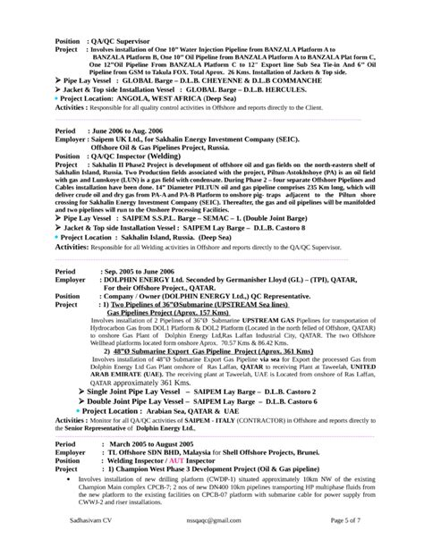 resume for welder supervisor functional welder resume template page 5