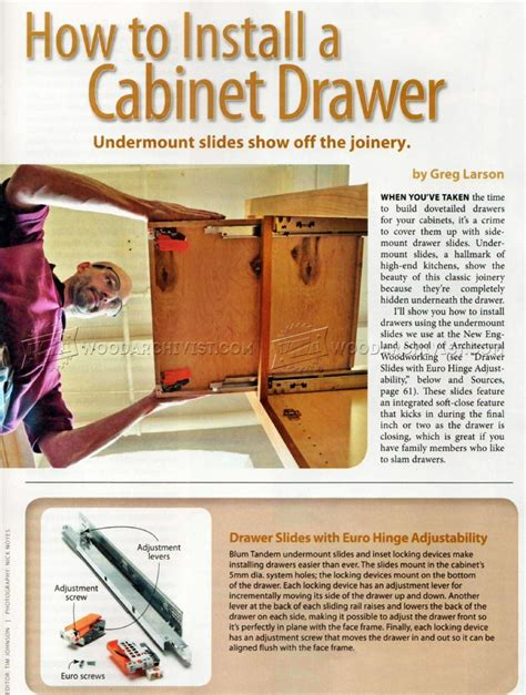 how to replace cabinet drawers how to install cabinet drawer woodarchivist