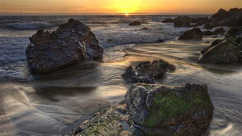 Wallpaper 1920x1080 Hd by Hd Wallpaper Rock Tide Sunset Desktop