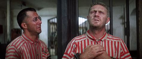 In the 1973 film papillon starring steve mcqueen as henri charrière (papillon) and dustin hoffman as louis dega. Loyalty that pains the heart Dustin Hoffman and Steve McQueen in Papillon (1973) : movies