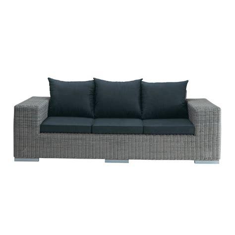 canape en resine tressee canapé de jardin 3 places en résine tressée gris bosphore