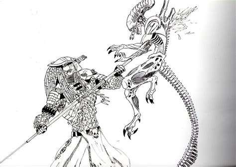 alien  predator coloring pages    quality