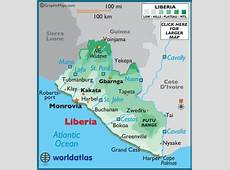 Liberia Map Geography of Liberia Map of Liberia