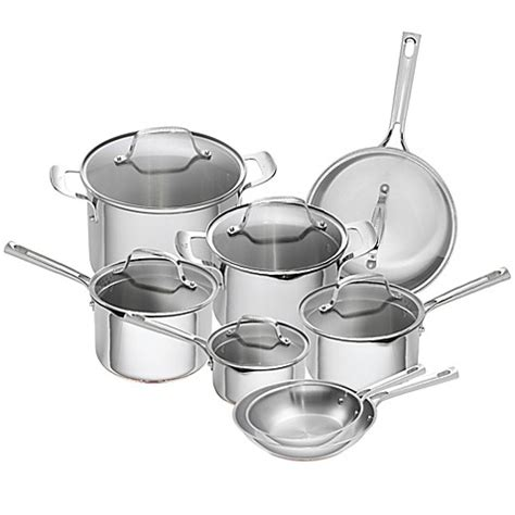 emeril  piece stainless steel  copper core cookware