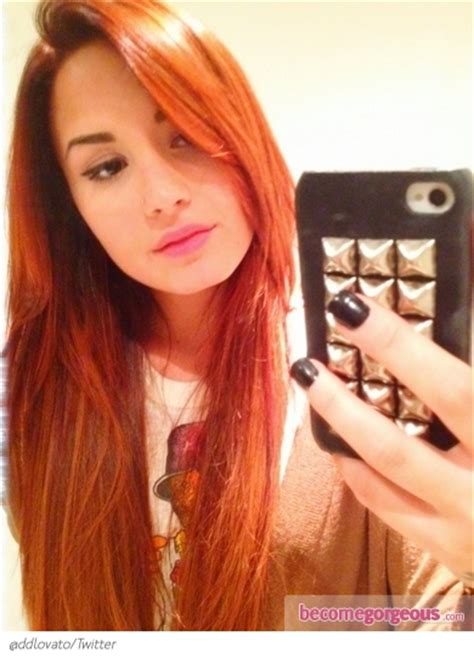 demi hair color reddish orange hair color
