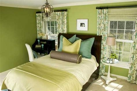 green color schemes for modern bedroom and