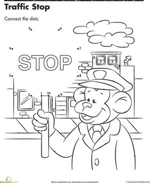 traffic stop connect the dots worksheet education