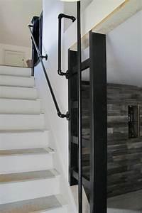 15 epingles rampe noire incontournables rampe peinte With peindre rampe escalier bois 15 main courante escalier exterieur wehomez