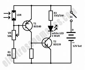 mini emergency led light circuit With led lights circuit