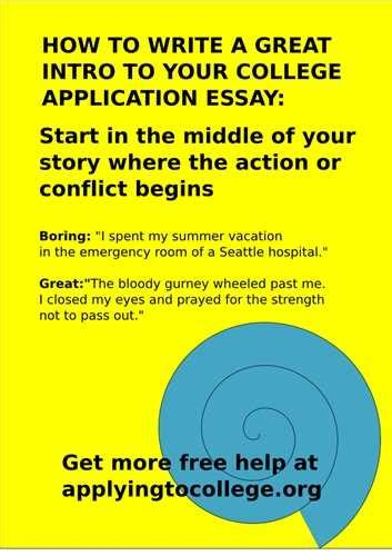 Writing A Winning Application by Tips For Writing A College Application Essay