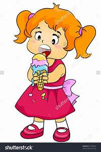 Girl Eating Ice Cream Clipart - ClipartXtras