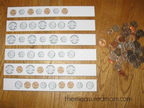 15 simple ways to teach patterns to preschoolers the 902 | coin pattern strips