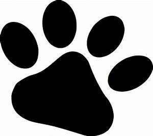 puppy paw print clip art clipart best With tiger paw template
